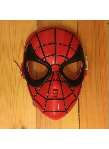 Quzucuk Kids Çocuk Plastik Yüz Maskesi Kırmızı
